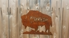 Rusted Rustic Welcome Buffalo Wall Hanging
