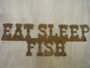 Rusted Metal Fishing Signs (Click Here for More)