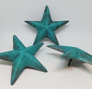 Set of 6 Large Star Nails Cast Iron