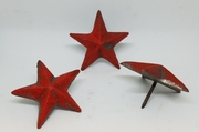 Set of 6 Small Star Nails Cast Iron