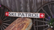 Ski Patrol Distressed Wood Sign
