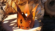 Small Metal Rusted Crown