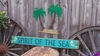 Spirit of the Sea Distressed Wood Sign