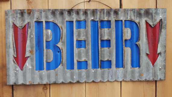 Popular Corrugated Metal Beer with Arrow Sign EJ98