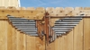 Up-cycled Corrugated Metal Wings with Bronc