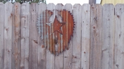 Up-cycled Corrugated Metal Wings with Star