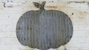 Corrugated Metal Pumpkin