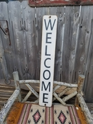 Welcome Distressed Sign