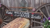 Welcome to the River Distressed Wood Sign