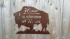 Wherever We Roam Buffalo Wall Hanging