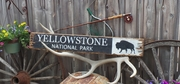 Yellowstone National Park Distressed Wood Sign