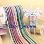 METALLIC silver edge ribbon