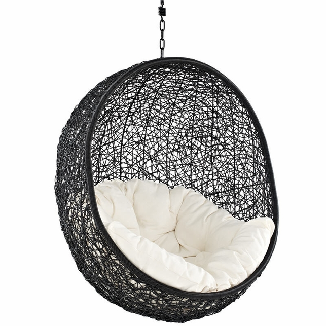 outdoor wicker swing chair home decorating ideas. Black Bedroom Furniture Sets. Home Design Ideas