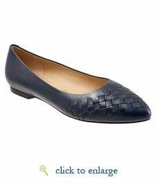 Estee Woven by Trotters (Navy Woven)
