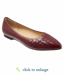 Estee Woven by Trotters (Dark Red Woven)
