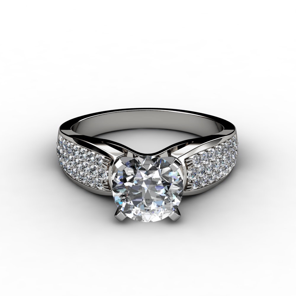 gold wedding rings wide band engagement rings With wide diamond wedding rings