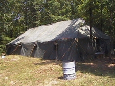 Assorted Canvas Military Tents 1940's to 2010's