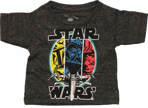 Star Wars 3 Characters X-Wing Infant T-Shirt