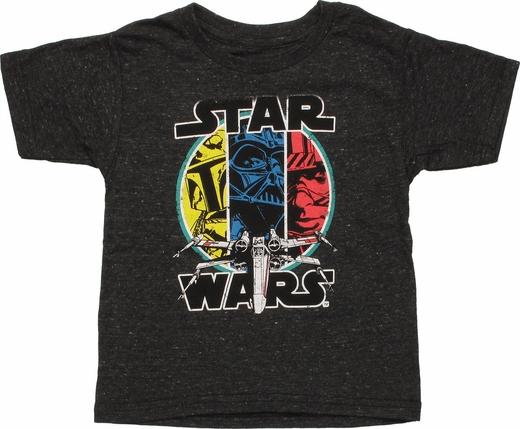 Star Wars 3 Characters X-Wing Toddler T-Shirt