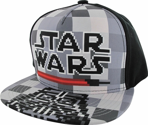Star Wars 8 Bit Name and Darth Vader Youth Hat