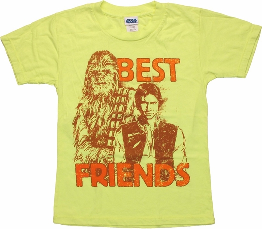 Star Wars Best Friends Yellow Juvenile T Shirt