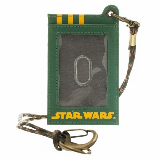 Star Wars Boba Fett Corded ID Card Wallet