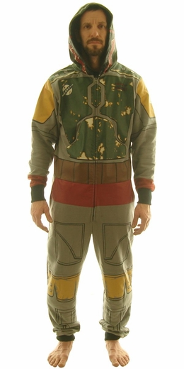 Star Wars Boba Fett Costume Hooded Union Suit