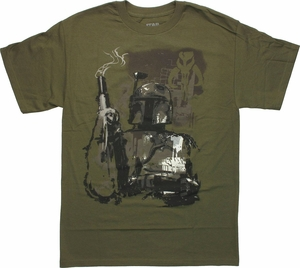 Star Wars Boba Fett Smoking Blaster T-Shirt