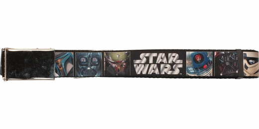 Star Wars Character Faces Square Mesh Belt