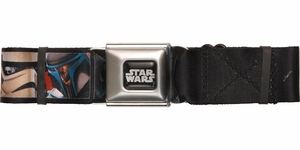 Star Wars Character Faces Square Seatbelt Belt