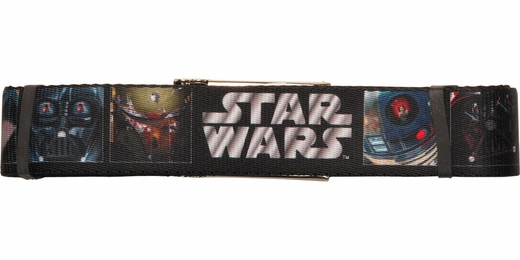 Star Wars Character Faces Square Wide Mesh Belt