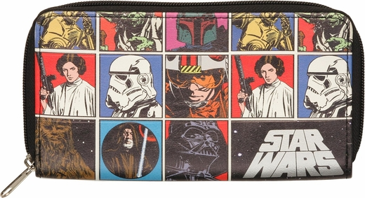 Star Wars Characters Zippered Clutch Wallet
