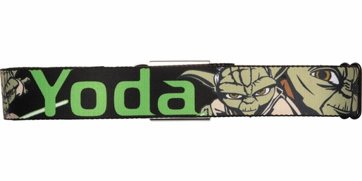 Star Wars Clone Wars Cartoon Yoda Seatbelt Belt