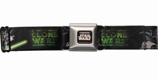 Star Wars Clone Wars Cartoon Yoda Seatbelt Mesh Belt