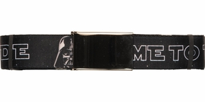 Star Wars Come to the Dark Side Wide Mesh Belt
