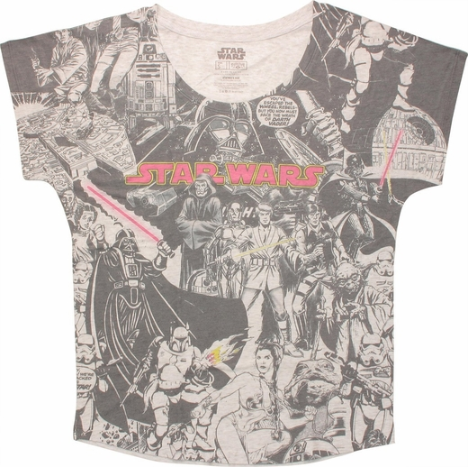 Star Wars Comic Sublimated Ladies Tee