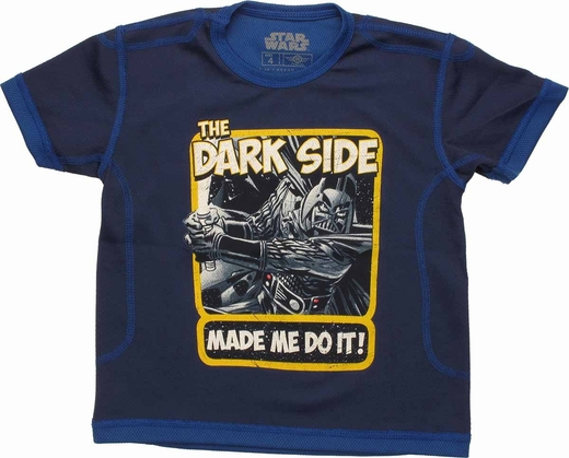Star Wars Dark Side Made Me Mesh Juvenile T Shirt