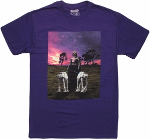 Star Wars Darth Vader Walk AT-AT Purple T Shirt