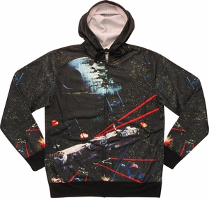 Star Wars Death Star Battle Sublimated Hoodie