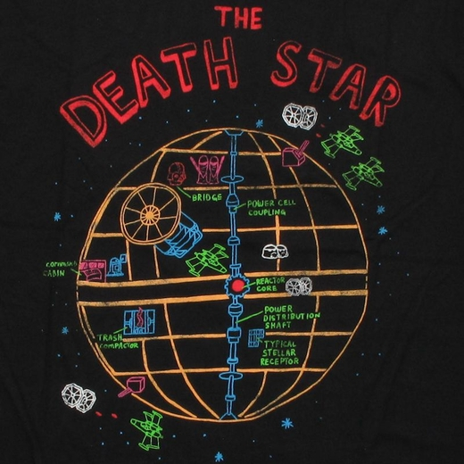 Star Wars Death Star Sketch T Shirt Sheer