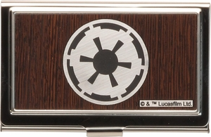 Star Wars Empire Logo Faux Wood Card Case