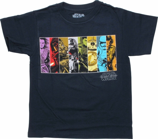 Star Wars Episode 7 Characters Juvenile T-Shirt