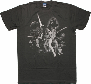 Star Wars Episode IV Subtle T Shirt Sheer