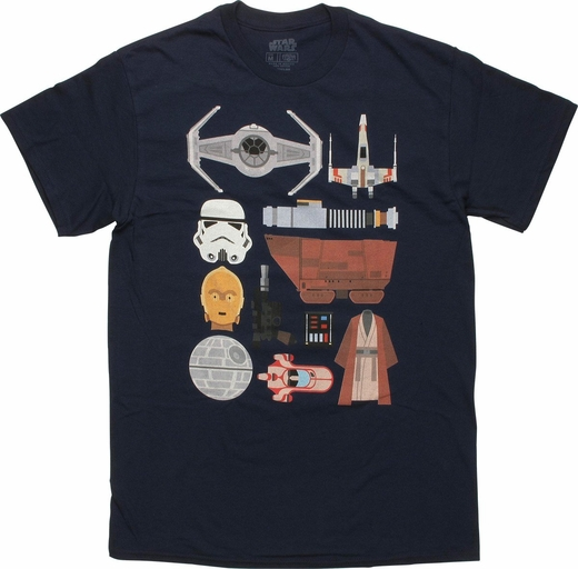Star Wars Essentials Icon Set T Shirt