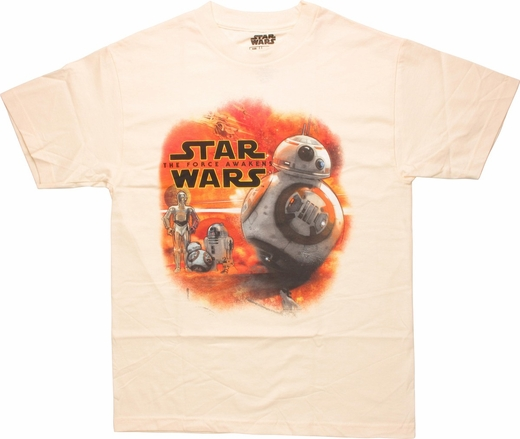 Star Wars Force Awakens Droid Collage T-Shirt