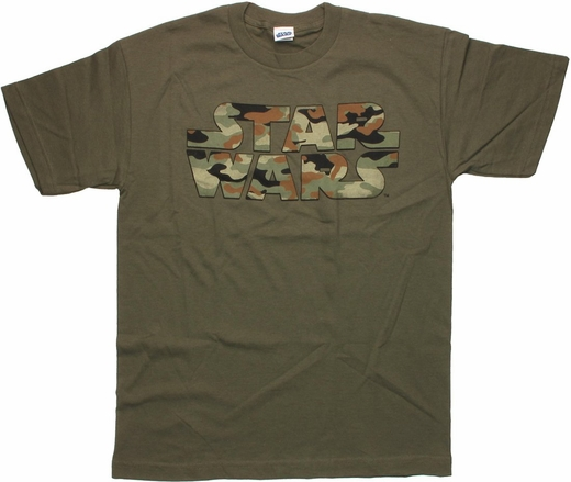 Star Wars Green Camo Logo T Shirt