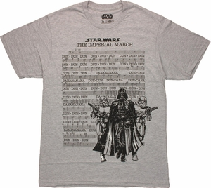 Star Wars Imperial March Music T Shirt Sheer