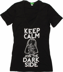 Star Wars Keep Calm Join Dark Side V Neck Baby Tee