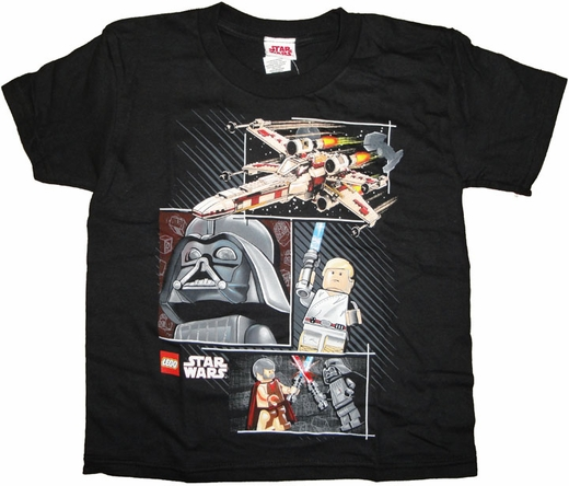 Star Wars Lego Collage Juvenile T Shirt