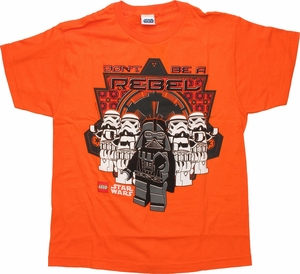 Star Wars Lego Don't Be Rebel Youth T Shirt